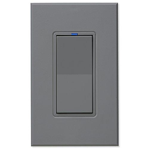 PCS PulseWorx UPB Wall Switch-Relay/Dimmer, Gray (Upb Relay)