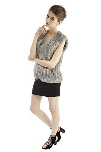 Vest Cómodo Mangas Casual De Outerwear Vintage Mujer Otoño Sin Abrigos Piel Fashion Ropa Chalecos Colores Suave Sintético Elegantes Grau Chaqueta Sólidos Invierno Adelina 7wvqPwU