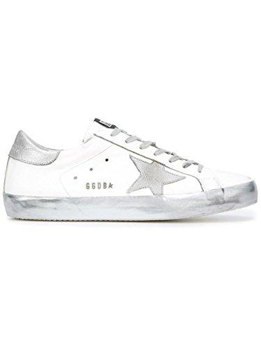 Golden Goose Sneakers Uomo GCOMS590E36 Pelle Argento/Bianco