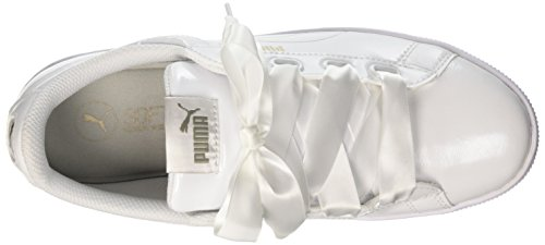 Puma Women Vikky Platform Ribbon P Low-Top Sneakers White (Puma White-puma White 02) rKtKXk