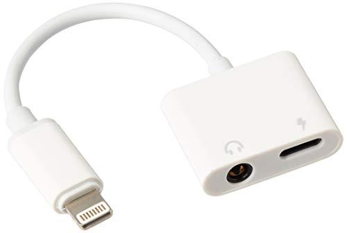 Adaptador de cargador de audio 2 en 1 para iPhone X 8 7 6 Plus, convertidor a adaptador de auriculares de 3,5 mm, accesorios...