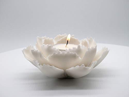 Glamorous Jill Ceramic Lotus Incense Burner (Special Matte Finish Tealight Holder)