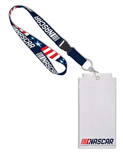 Wincraft NASCAR Premium Stars and Stripes Lanyard with Credential Holder