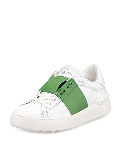 Valentino Striped Leather Sneakers 40 by Valentino