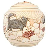 Harmony Ball Forever and Ever Cat Cachepot- A Beautiful Urn for Pet Ashes
