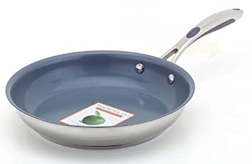 GREEN Pan 302031-28 Vienna - Sartén de inducción con superficie de Thermolon (28 cm), acero