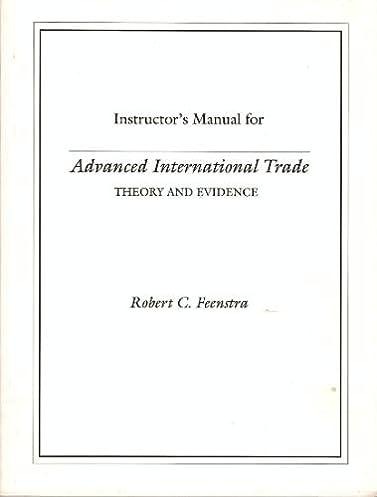 solutions manual to advanced international trade robert c feenstra rh amazon com Katie Feenstra Husband Feenstra Guide Service
