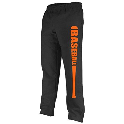 Baseball Jersey Orange Axl (Baseball Bat Baseball Sweatpants   Baseball Apparel by ChalkTalk SPORTS   Black/Orange   Adult X-Large)