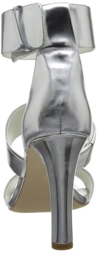 Calvin Klein Women's Asa Metallic Dress Sandal,Silver,8.5 M US