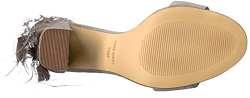West Women's Suede Suede Grey Sandal Nine Aaronita Z6S5x6q