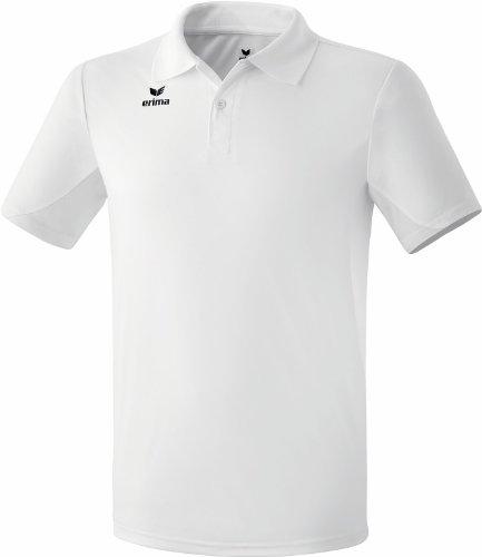 erima Kinder Poloshirt Funktions, weiß, 140, 211341