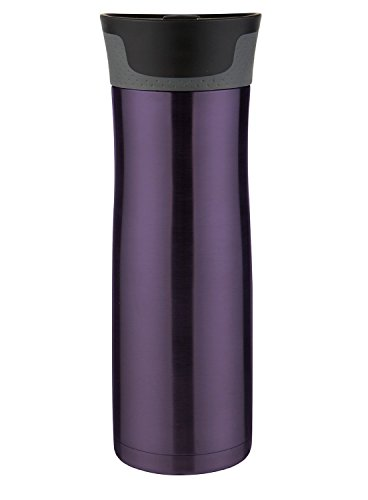 Contigo AUTOSEAL West Loop Vacuum Insulated Stainless Steel Travel Mug with Easy Clean Lid, 20oz, Violet