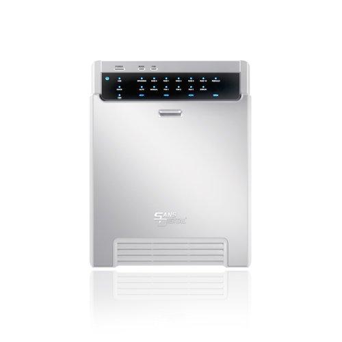 Sans Digital MobileSTOR MS4CT+ 4 Bay USB 3.0/eSATA/1394a/1394b Hardware RAID Enclosure by Sans Digital