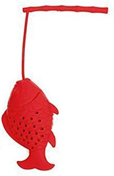 Thee InfuserLosse Thee InfuserNietGiftige Thee Infuser Keuken benodigdheden Thee Tas Thee Strainer Theepot Accessoire Silicone 1 Stks Visvorm Rood
