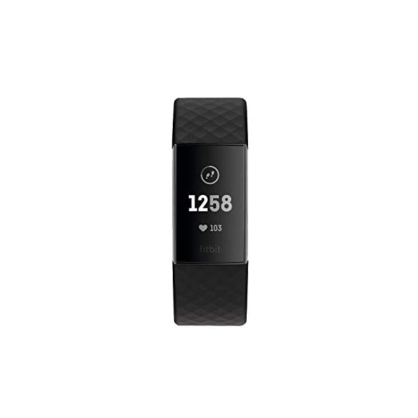 Best fitness trackers Fitbit Charge 3 Fitness Activity Tracker, Graphite/Black, one Size (no fitbit Warranty