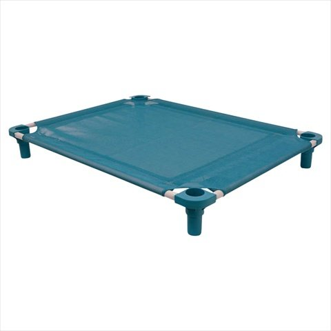(4Legs4Pets C-TL5222DG 52 x 22 in. Unassembled Pet Cot - Teal with Dustin Green)