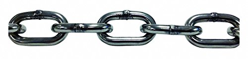 10 ft. Grade 30 Straight Chain, 5/16'' Trade Size, 2850 lb. Working Load Limit, For Lifting: No by pewag