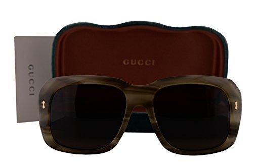 Gucci GG0049S Sunglasses Havana w/Brown Lens 003 GG - Gucci Aviator Oversized Sunglasses