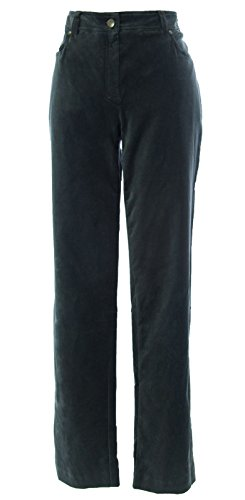 MARINA RINALDI by MaxMara Eroll Charcoal Velvet Trouser Pants 12W / 21