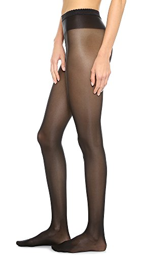 (Wolford Women's Neon 40 Tights, Black, Large)