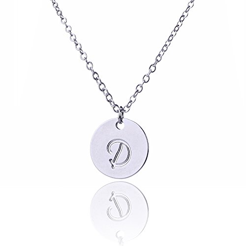 Engraved Disc (AOLO Engraved Disc Initial D Pendnant Necklace Letter D)