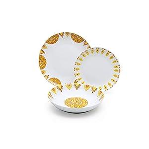 Excelsa Lhasa Autumn 18-Piece Porcelain Dinner Set