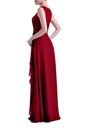 Chiffon Farbe Der Burgund Brautjungfer Formale Mutter Kleid 20w Kleid utigam Braut Lange Anlass Br Besonderen