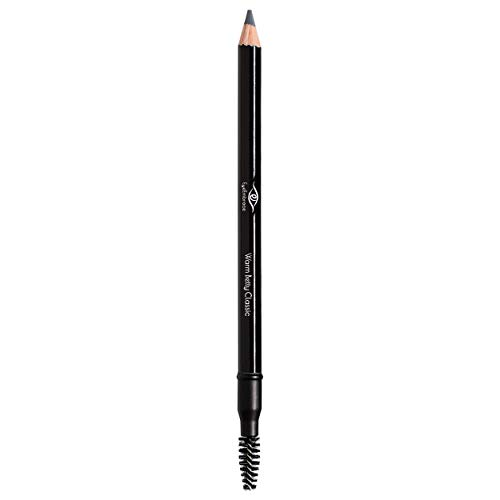 Eye Embrace Warm Betty Classic: Light Gray Wooden Eyebrow Pencil – Waterproof, Double-Ended Pencil with Sharpener…