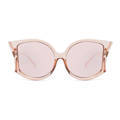 de manera de de las de las Gafas gafas mujeres Rosa de sol sol Té UV400 la de Huicai grandes las mujeres de verano q6wAUnZ