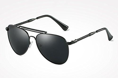 Gafas Guía masculina calidad gafas con UV400 sol ACCESORIOS Sunglasses polarizados de sol TL para Mujer alta Gafas plata gray Hombre de azul black PYzwUwnvq