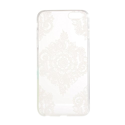 Für Apple iPhone 6 / iPhone 6S (4.7 Zoll) Hülle ZeWoo® TPU Schutzhülle Silikon Tasche Case Cover - YG006/ Papier-Schnittblumen
