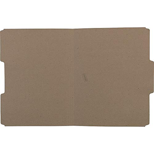Sustainable Earth 756044 Natural Brown 3 Tab Assorted Positions 100/Bx (Natural 100 Tabs)