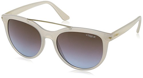 VOGUE Women's Injected Woman Round Sunglasses, Opal Ice, 55 - Optical Vogue Glasses
