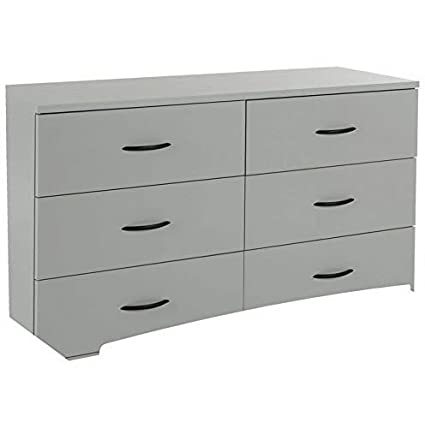 Amazon.com: Hebel Step One 6 Drawer Double Dresser | Model ...