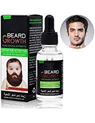 Beard Growth Oil, Sky-shop Natural Organic Hair Growth Oil Beard Oil Enhancer Facial Nutrition Moustache Grow Beard Shaping Tool Beard Care Products Hair Loss Products for Groomed New Beard Growth Hai