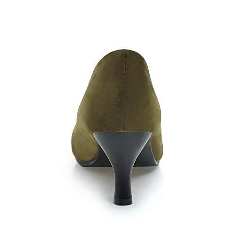 Green Femme 36 Vert 5 AN Sandales DGU00646 Compensées 4qpxwT6F