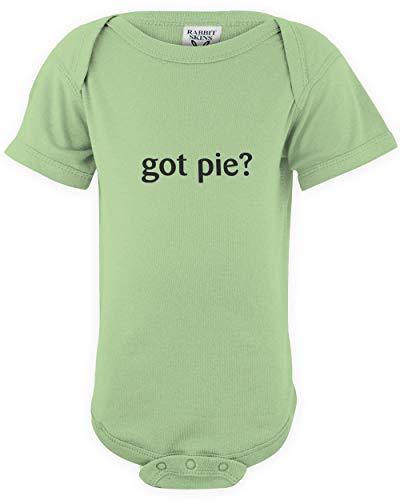 shirtloco Baby Got Pie Infant Bodysuit, Key Lime 12 Months ()