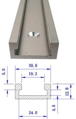 Aluminium 400//500//600mm T Tracks T-Slot Slider Miter Jig Tool For Woodworking