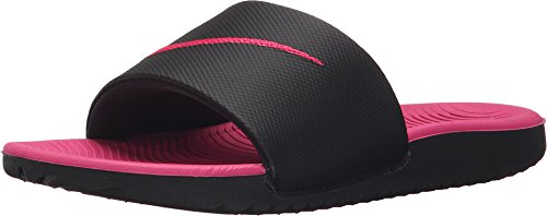 NIKE Girl's Kawa (GS) Slide Black/Vivid Pink Size 5 M US