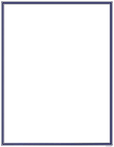 Border Letterhead Paper - Great Papers! Navy Border Letterhead, 8.5