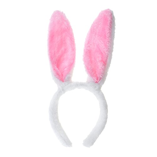 Toptie Wholesale Bunny Ears Headband, Soft Touch Plush Cosplay Party Accessory-Pink-1pc