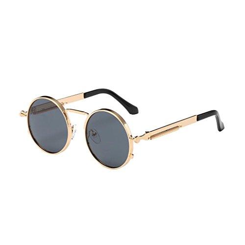 hombres B sol Steampunk Gusspower y círculo retro estilo mujers gafas inspirado de para polarizadas metálico redondo Zx7qC