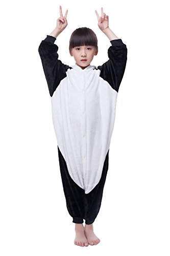 Unisex Child Sleepsuit Costume Cosplay Homewear Lounge Wear Kigurumi Onesie Pajamas (XL, Children's panda (Girls Panda Costume)