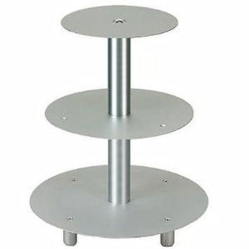 Tortenstander 3 Etagen Hochzeitstortenstander Aluminium Amazon De