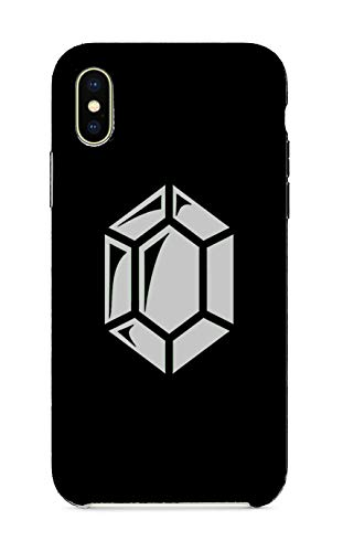 (Customized Phone Case Compatible with iPhone X 10 - Fantasy Game Gem Currency Video Game Rupee Coin (Silver))