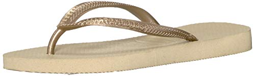 Havaianas Little Kid Slim Flip Flop Sandal, Sand Grey/Light Golden, 11/12 M US Toddler