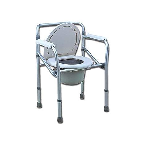 COMODA WC sedia da comoda per WC o doccia, altezza regolabile 45 55cm