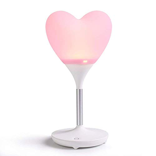 ZOUQILAI Love Night Light Led Desk Lamp Portable Wireless Touch USB Charging Silicone Lamp 3 Level Brightness Cute Home Small Table Lamp Pink