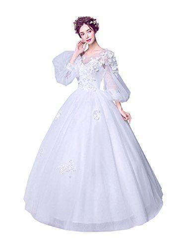 無謀国民研究hanamaya ウェディングドレス 長袖 ドレス 演奏会用ロングドレス 大きいサイズのウェディングドレス 演奏会用ロングドレス 二次会ドレス花嫁