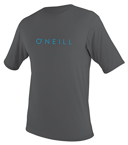 O'Neill Youth Basic Skins UPF 30 + Short Sleeve Sun Shirt, Smoke, 16